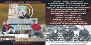 2005 - BRATSKLAD - Bratosfera Rap Darmo (cover)